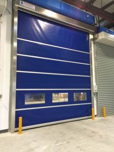 Plastic Interior High Speed Rolling Shutter Doors (HF-1022) pictures & photos