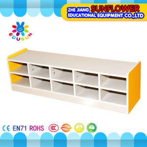 Kids Kindergarten Furniture Of Shoes Shelf, Wooden Shoes Rack, Shoes Cabinet  (XYH12137
