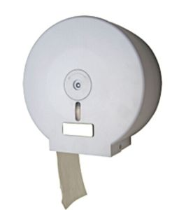 Hotel Publicl Wholesale White Round Plastic Wall Mounted Toilet Roll Dispenser