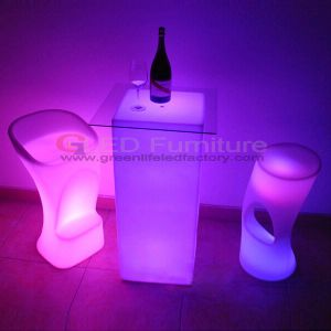 Colorful and Battery LED Lounge Furniture for Event Party Coffee Table