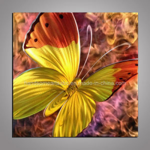 Beautiful Butterfly Metal Craft / Metal Oil Painting for Decor pictures & photos