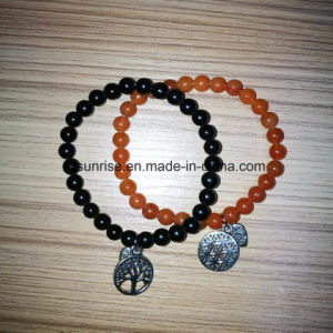 Semi Precious Stone Fashion Crystal Carnelian Aventurine Beaded Bracelet Jewelry pictures & photos
