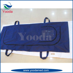 Nonwoven+PE Body Bag with 4 Handles pictures & photos
