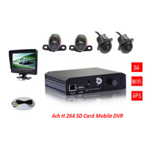 H. 264 SD Card Mobile DVR 4CH Mdvr with 3G&GPS Function Add 4 Mini Camera pictures & photos