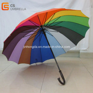 16 Ribs Rainbow Umbrella Ideal for Gift (YSG001)