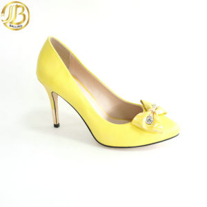 Fashion PU Lady MID Heels Pumps Shoes (G876-A4L10-A)