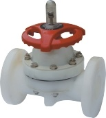 Diaphragm Valve, Flange Connection, PVDF Diaphragm Valve pictures & photos