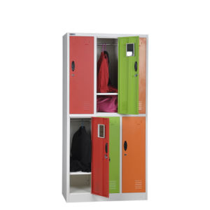 Yellow 6 Door Metal Storage Locker pictures & photos