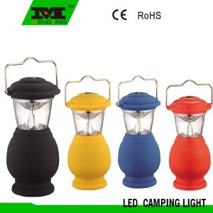 Colorful Plastic 8 LED Camping Lantern with Handle Powered by 4*AA Battery