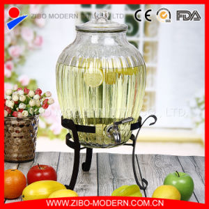 Glass Water Dispenser with Tap for Juice pictures & photos