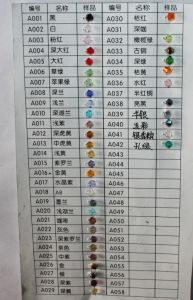 Crystal Color Chart Daking Jewelry pictures & photos