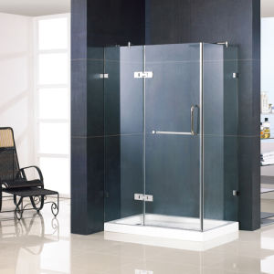 Tempered Glass Shower Enclosure with Solid Brass Hinges