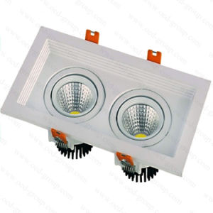 2*5W 2*10W COB LED Grille Down Light Recessed Ceiling Square Venture Lights pictures & photos