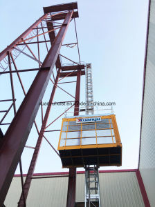 High Quality China Manufacturer 1 Ton Rack and Pinion Building Hoist