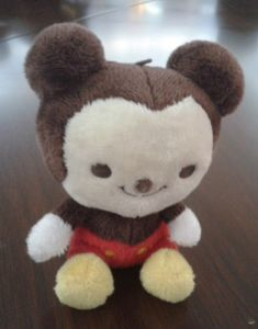 Mini Sitting Bear Plush Keychain