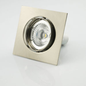 Die Casting Aluminum GU10 MR16 Square Tilt Recessed LED Spotlight (LT1201) pictures & photos