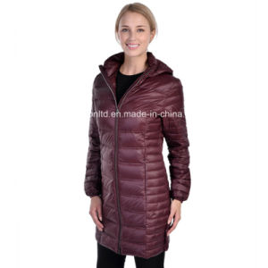 Branded Women′s Light Weight Packable Down Coat pictures & photos