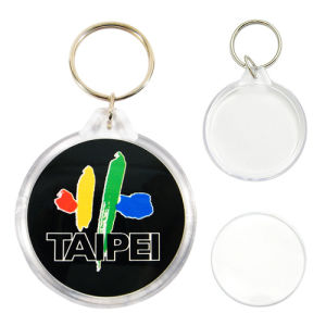 New Design OEM Plastic Photo Keychain pictures & photos