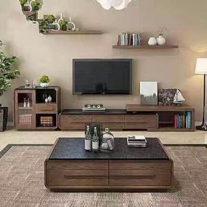 Brown Color Marble Cover Living Room
