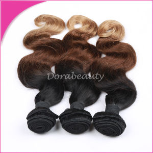 Brazilian Human Hair 3 Tone Omber Hair (1b 33 27) pictures & photos