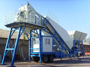 Yhzs40 Mobile Concrete Batching Plant pictures & photos