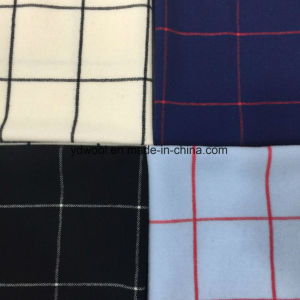 Twill Check Wool Fabric for Overcoat pictures & photos