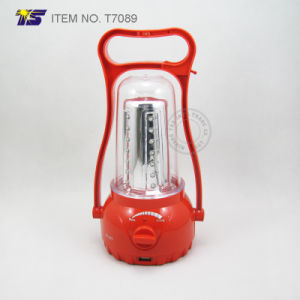 Solar Camping Light LED Rechargeable Lantern with Mobile Phone Charger (T7089)