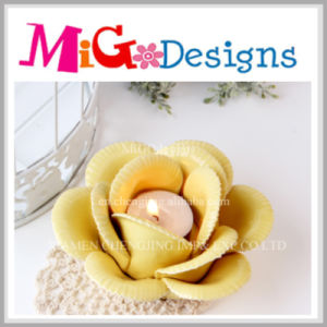 Ceramic Lotus Flower Candle Holder for Lighting pictures & photos