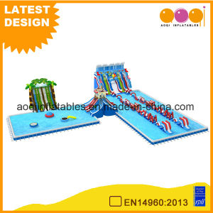 Ocean Water Park Combo Inflatable with Slide (AQ01732)