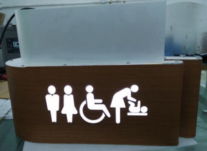 Toilet Washroom Lavatory Acrylic Illuminated Directory Guide Sign pictures & photos
