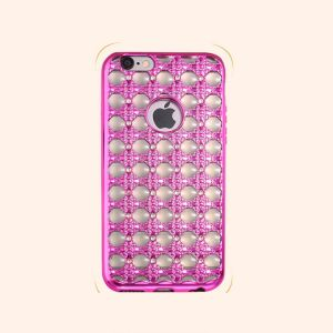 Wholesales Popular Luxury Electroplate Diamond Soft TPU Phone Case for iPhone 7 pictures & photos