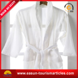 Extra Long Solid Color Hotel Velour Cotton Bathrobe pictures & photos