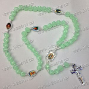 New Style Candy Acrylic Luminous Cord Rosary Necklace