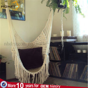 Indoor Home Cotton Rope Folding Soft Safe Hammock Chair pictures & photos