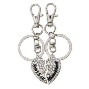 Mother & Daughter Best Friend Bff Mother′s Day Gift Crystal Heart Key Chain Rings Charm