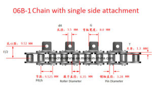 A1 K1 Attachment Conveyor Chain for Industrial Automation Production pictures & photos