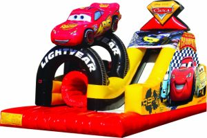 Outdoor Big Inflatable Cars Challange Slide for Sale pictures & photos