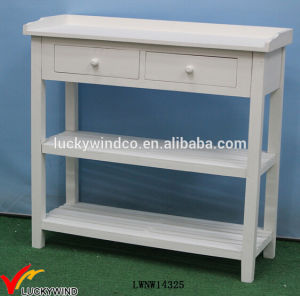 Solid Painted French Wood Console White Table pictures & photos