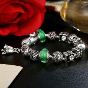 Vintage Bells Pendant & Green Murano Beads Openwork Charm Bracelets pictures & photos