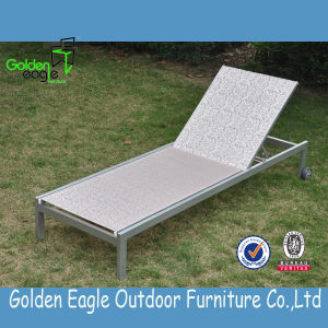 Well- Acceptable Textilene Sun Lounger with Durable Fabric
