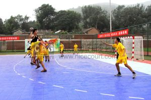 Interlocking Outdoor /Indoor Handball Courts Flooring/ Handball Ground Surface