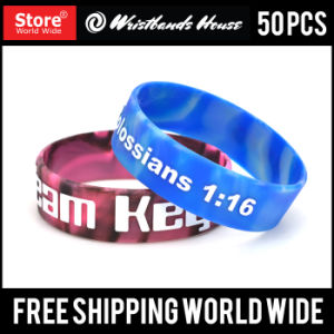 3/4 Inch Check Custom Design Silicone Wristbands pictures & photos
