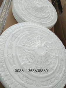Factory PU Polyurethane Ceiling Medallions / Ceiling Tiles for Interior Decoration