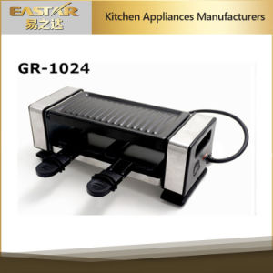 Stainless Steel New Raclette Grill for 2 Persons Non-Stick Grill Plate pictures & photos