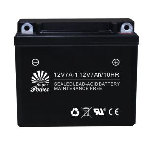 Sealed Maintenance Free Motorcycle Battery 12V 7ah with CE UL Certificate Called 12N7A-1