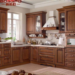 European Style Solid Wood Kitchen Hanging Cabinet (GSP10-002) pictures & photos