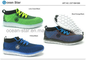 High Cut Flyknit Young Breathable Man and Boy Shoes pictures & photos