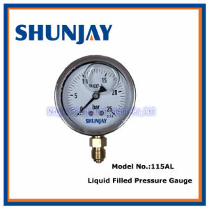 Liquid Glycerin Oil Filled Bourdon Tube Pressure Gauge