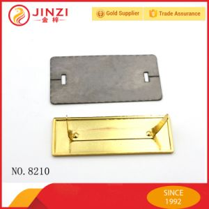 High Quality Customized Logo Handbag Logo Metal Plate with Golden pictures & photos