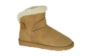Women′s Microfiber Mini Boots with Tab
